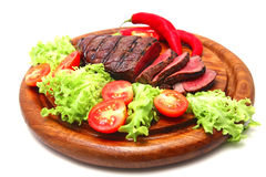Bbq meat and vegetables Royalty Free Stock Images