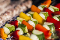 BBQ,meat and vegetables. Royalty Free Stock Photography