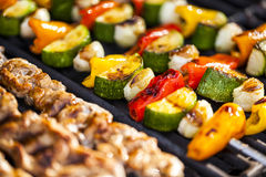 BBQ,meat and vegetables. Stock Images