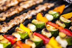 BBQ,meat and vegetables. Royalty Free Stock Photo
