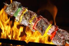 BBQ med kebab Royaltyfri Foto