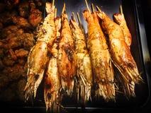 Bbq-Meeresfrüchte-Reihe lizenzfreie stockfotos