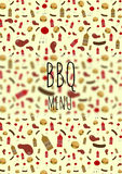 Bbq menu card. Page template for a barbecue restaurant menu Royalty Free Stock Photography