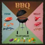 Bbq menu poster Stock Images