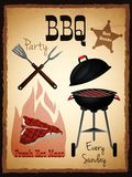 Bbq menu poster Stock Photo