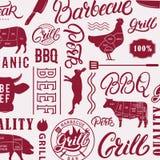 BBQ, modello della griglia Fotografie Stock Libere da Diritti