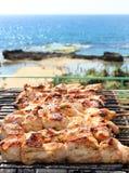 BBQ na praia Imagem de Stock