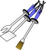 Bbq narzędzia Fotografia Royalty Free