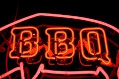 Bbq-Neonzeichen Lizenzfreies Stockfoto