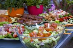 BBQ no jardim Imagem de Stock Royalty Free