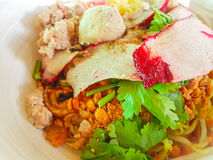 bbq noodle της Μαλαισίας τροφίμων χοιρινό κρέας Στοκ Φωτογραφίες