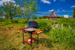 BBQ in the open Stock Photos