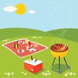BBQ Party. Enjoy a barbecue on the sunny day break Stock Images