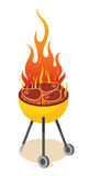 BBQ Party. A delicious barbecued steak cooked yellow Royalty Free Stock Images