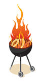 BBQ Party. Enjoy holiday barbecue white background Stock Images