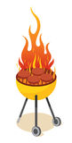 BBQ Party. Enjoy holiday barbecue white background Stock Photos