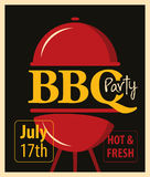 BBQ party with barbecues Royalty Free Stock Image