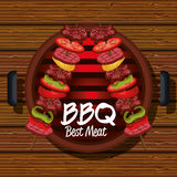 bbq party best meat Stock Images
