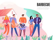 BBQ Party Illustration royalty free stock photography