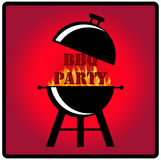 BBQ PARTY illustration. Stock Photography