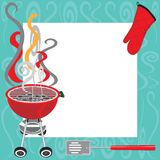 BBQ Party Invitation. With copy space Stock Photography