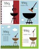 BBQ party invitation Royalty Free Stock Photography