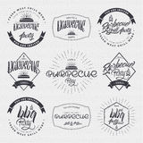 BBQ party - poster, sticker, badge, label, icon, flyer, stamp print on clothing. BBQ party -  insignia is made with the help of lettering and calligraphy skills Royalty Free Stock Photography