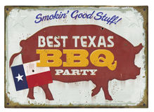 BBQ Party Sign vector illustration