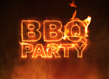 BBQ Party Text Stock Images