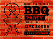 BBQ party vector illustration Royalty Free Stock Photography