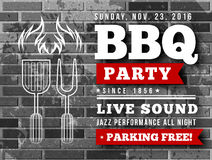 BBQ party vector illustration Stock Photography