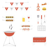 Bbq party vector set Royalty Free Stock Photography