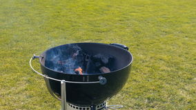 BBQ for a picnic. Grilling at summer weekend. stock footage