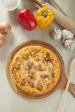 Bbq-pizza Arkivfoto