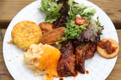 BBQ Plate Royalty Free Stock Photos