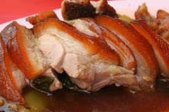 Bbq pork. Slices of asian style bbq pork Royalty Free Stock Photography