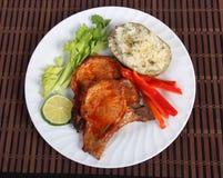 Bbq pork chop Stock Photo