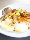 BBQ Pork and Crispy Pork with Rice Royalty Free Stock Photography