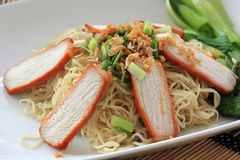 BBQ Pork with Egg Noodle Royalty Free Stock Photos