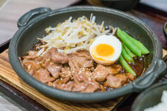 BBQ pork japanese style Stock Image