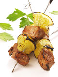 Bbq pork kebab Stock Images