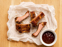 Bbq pork rib Stock Images