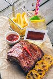 BBQ Pork Ribs Royalty Free Stock Photo