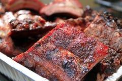 BBQ pork ribs. Pile of BBQ pork ribs Royalty Free Stock Photos