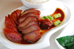 BBQ pork rice Royalty Free Stock Photography