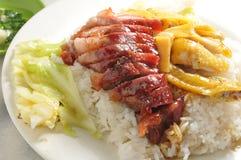 BBQ pork rice Stock Photos