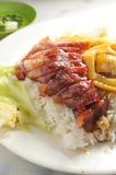 BBQ pork rice Royalty Free Stock Image