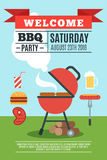 BBQ poster illustration Stock Image