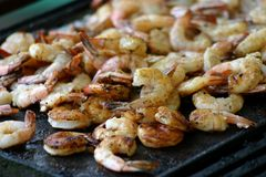 BBQ Prawns / Shrimp Royalty Free Stock Images