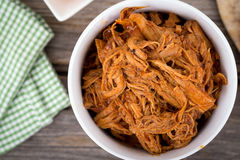Bbq pulled pork bowl Stock Photos